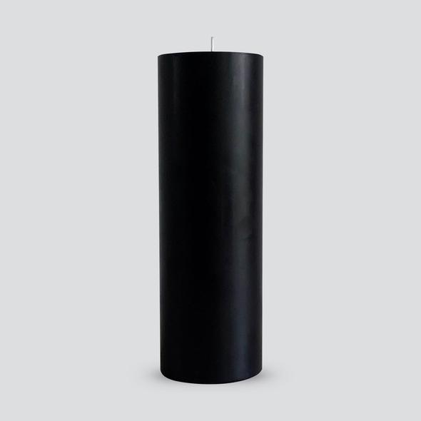 Black Pillar Candle | Large