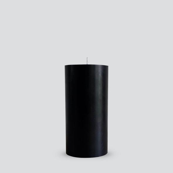 Black Pillar Candle | Medium
