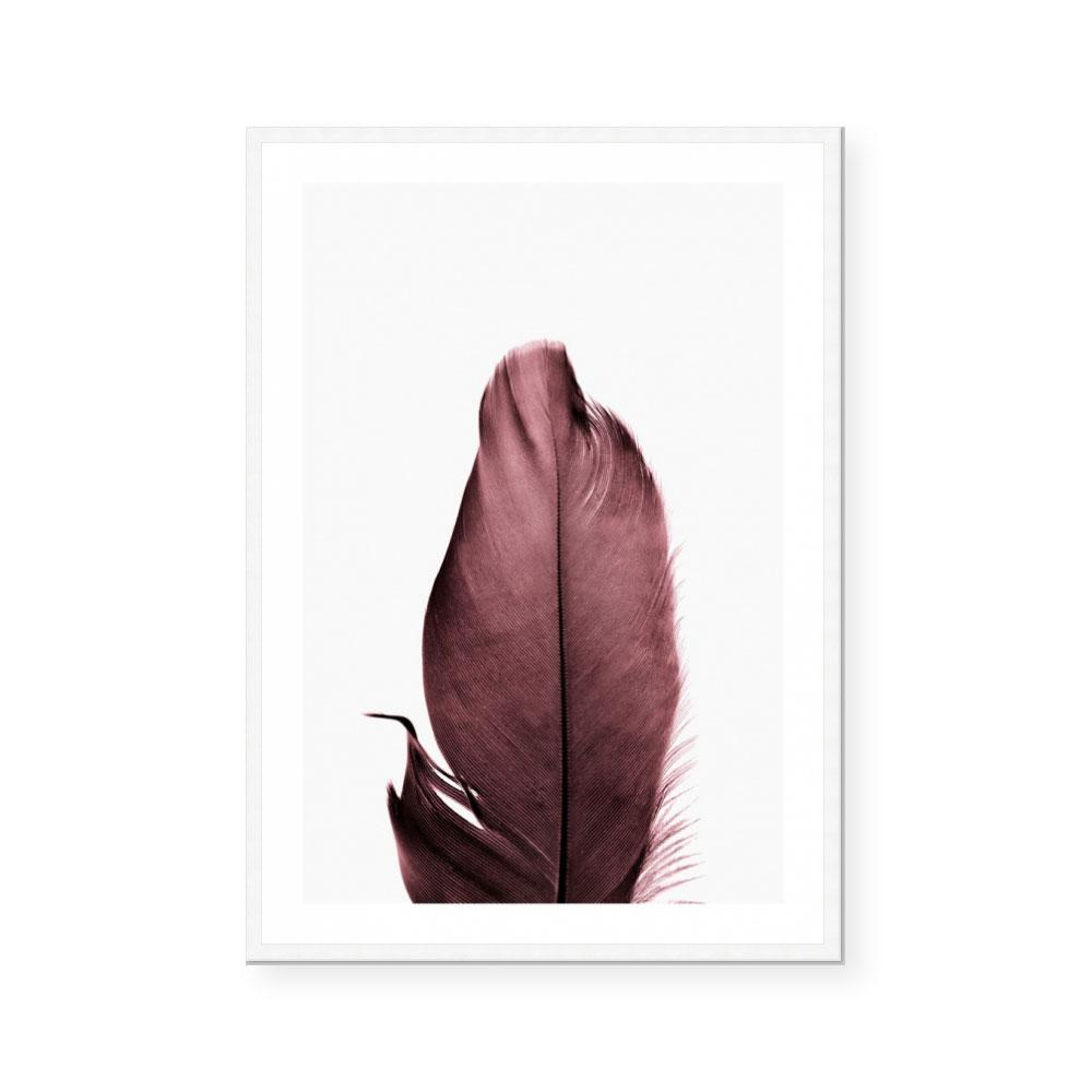 Burgundy Feathers II