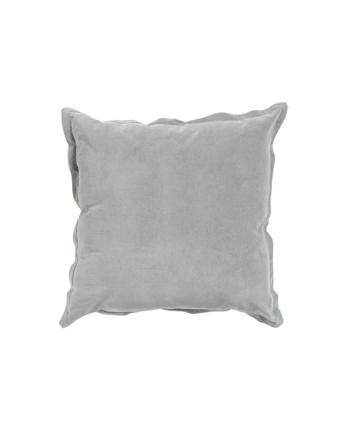 Freya Velvet Linen Cushion | Ice Blue