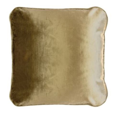 Piped Velvet Cushion | Gold