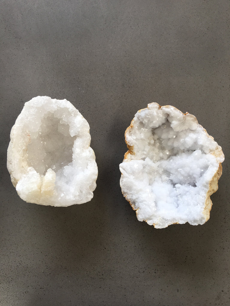 Clear Quartz Geodes Crystal | Small