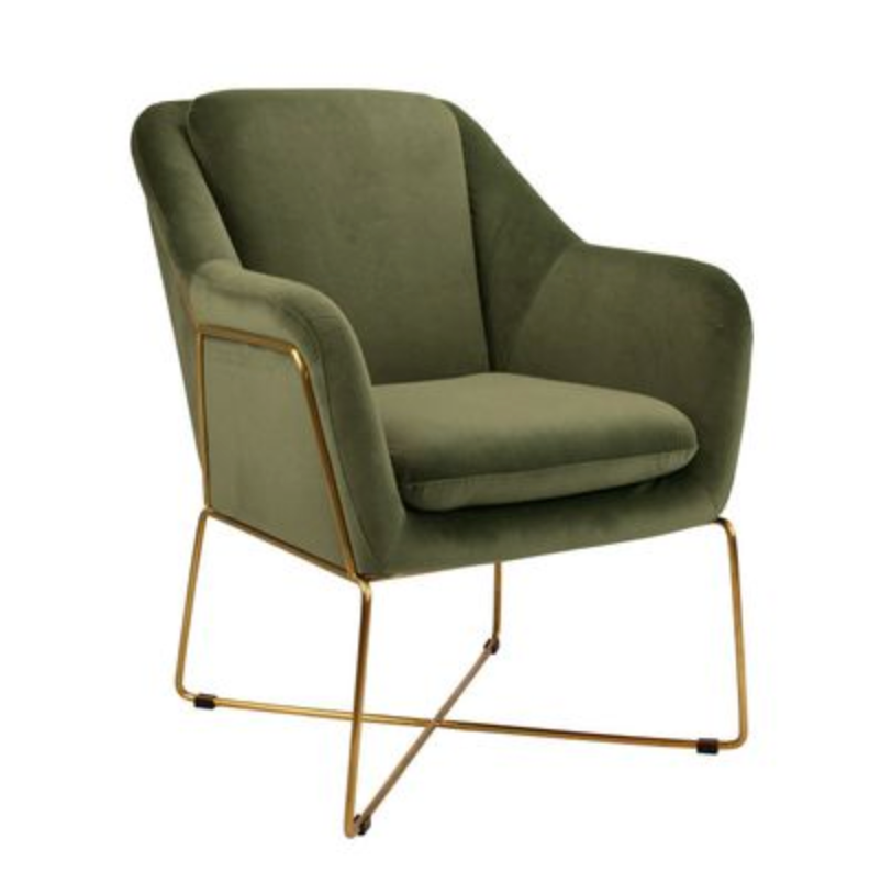 Milan Armchair - Olive