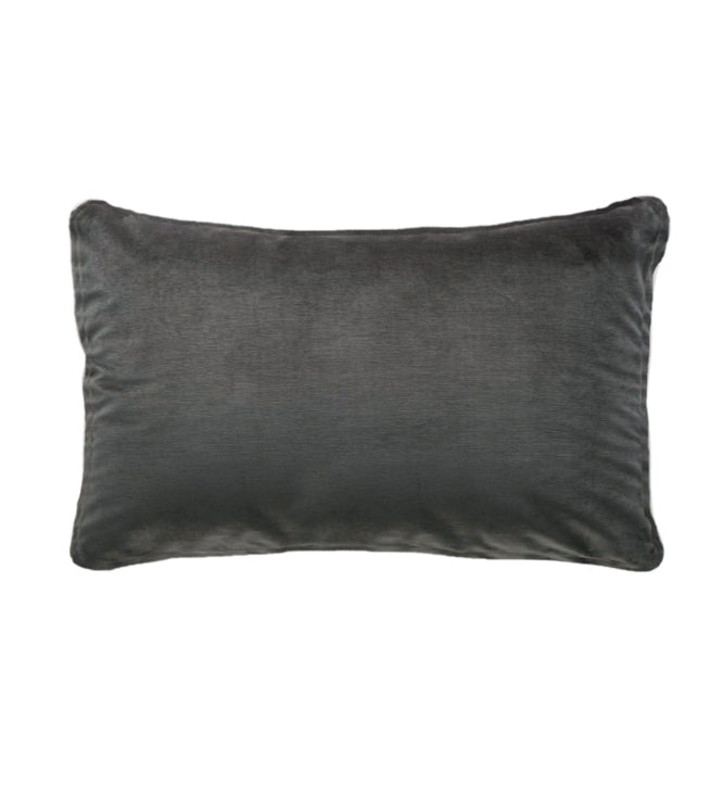 Soho Velvet Lumbar Cushion | Dark Grey