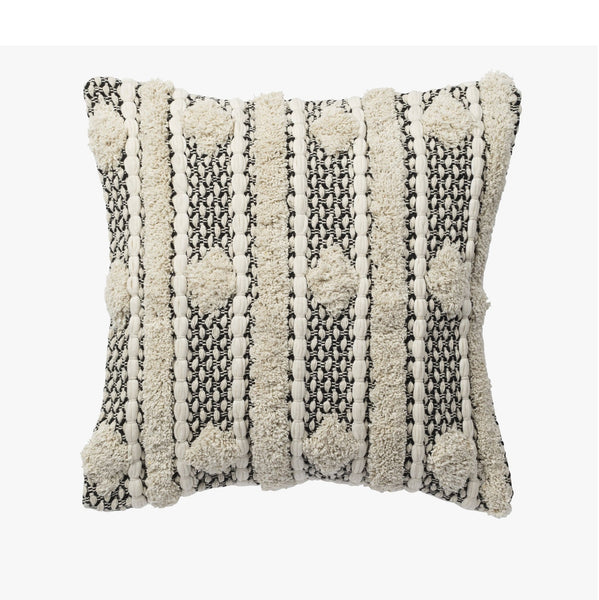 Burleigh Cushion | Ivory/Black