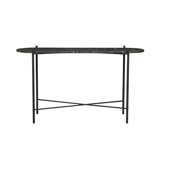 Elle Pipe Oval Console | Matt Black/Black