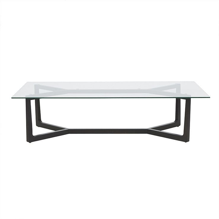 Geo Glass Coffee Table | Charcoal