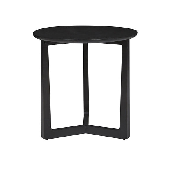 Geo Round Side Table | Charcoal