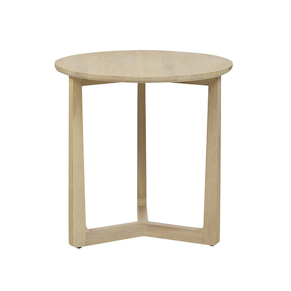 Geo Round Side Table | Natural Oak