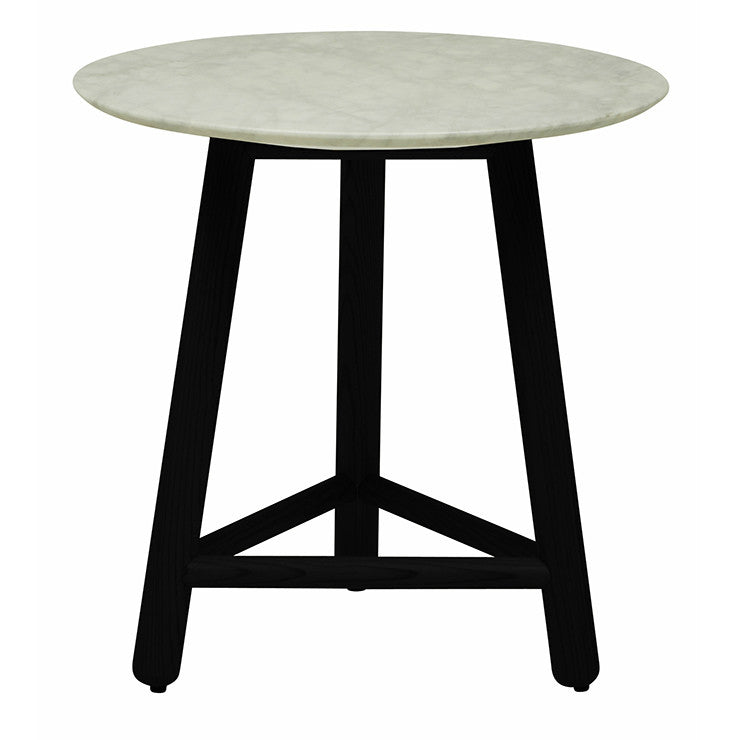 Sloan Tri Marble Side Table | Dark Wenge