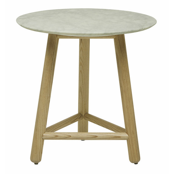 Sloan Tri Marble Side Table | Natural Ash