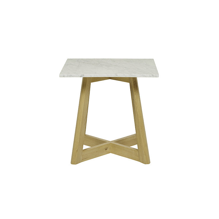 Sloan Marble Side Table | Natural Ash
