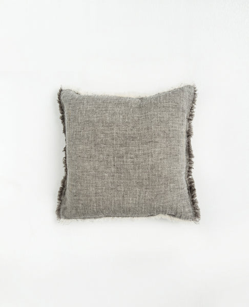 Carina Cotton Linen Cushion | Grey