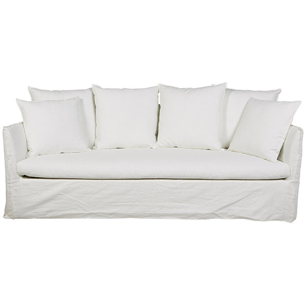 Vittoria Slip Cover | Three Seater Sofa | Milk