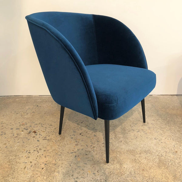 Winston Armchair | Royal Blue Velvet | FLOOR STOCK