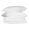 French Linen Quilt Cover Set | White
