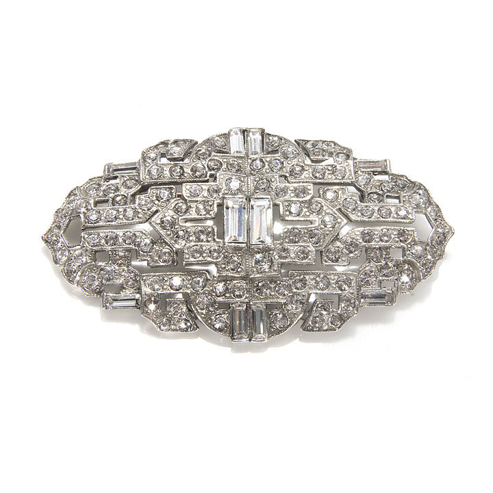 Crystal Deco Brooch