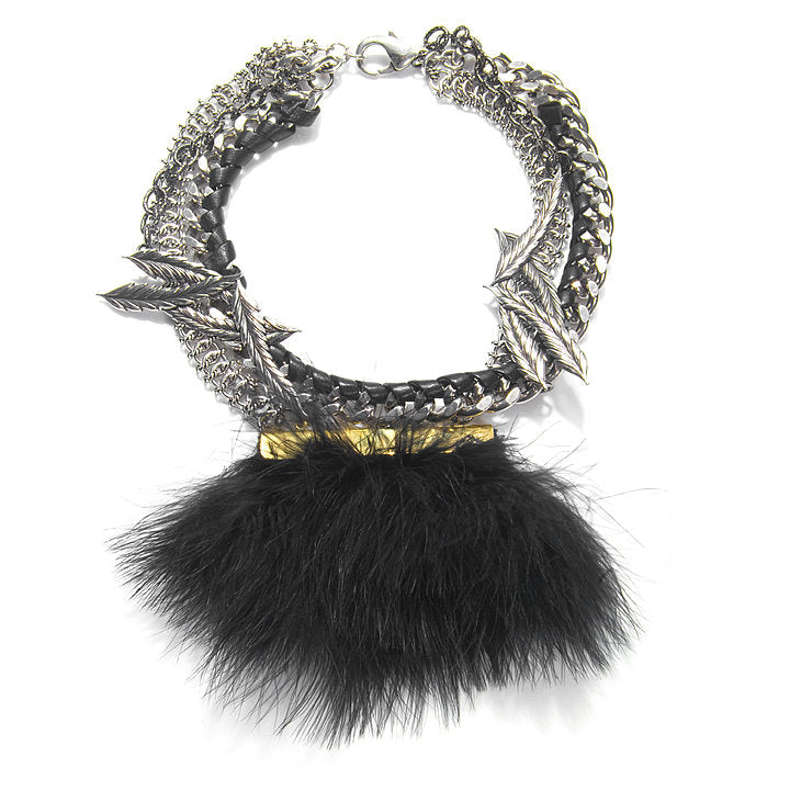 Black Feather Choker