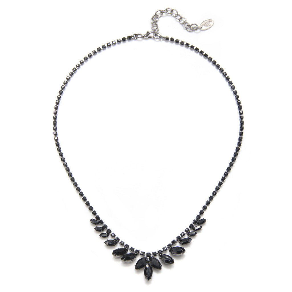 Black Navette Necklace