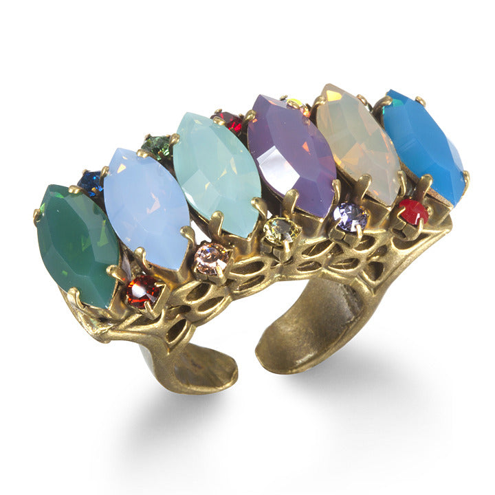 6 Marquise Multi-color Ring
