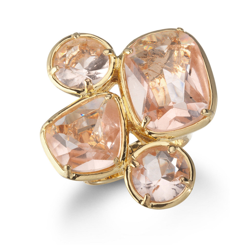 Peach Cluster Ring