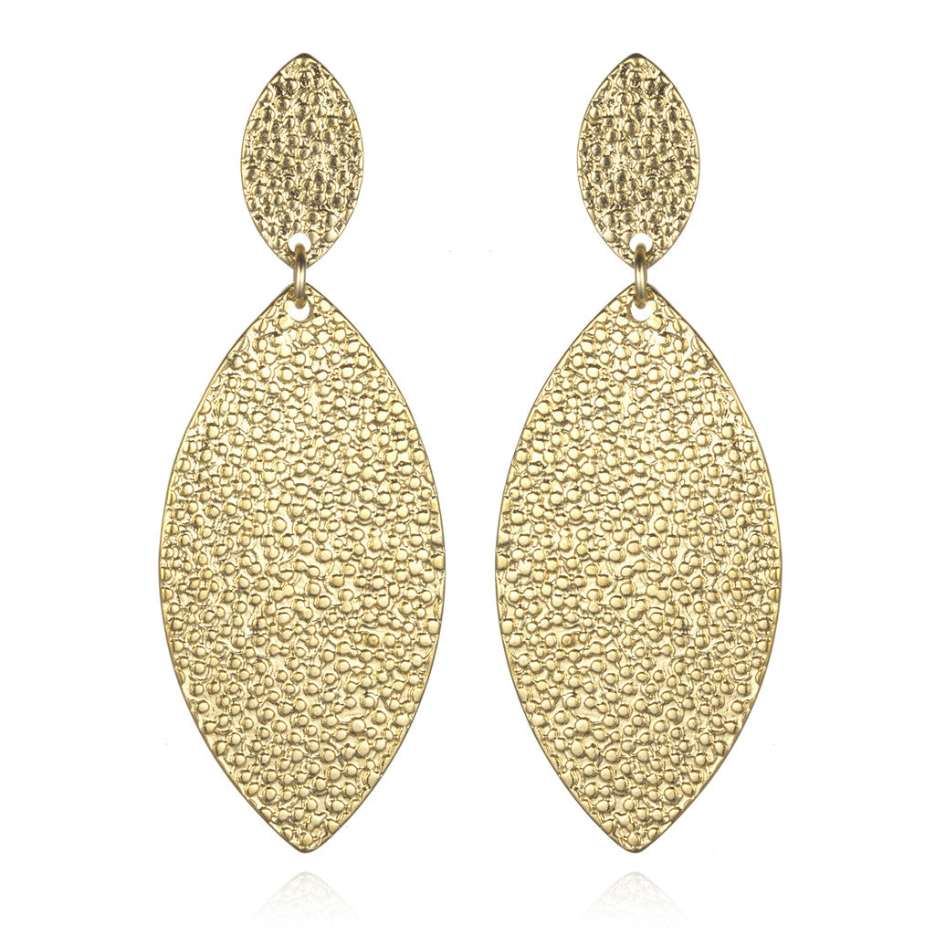 Gold Marquise Earrings