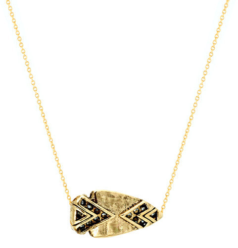 Arrowhead Pave Necklace