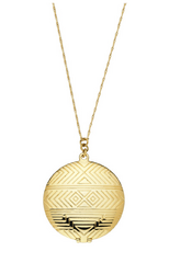 Gold Medallion Necklace by House of Harlow | Charm & Chain