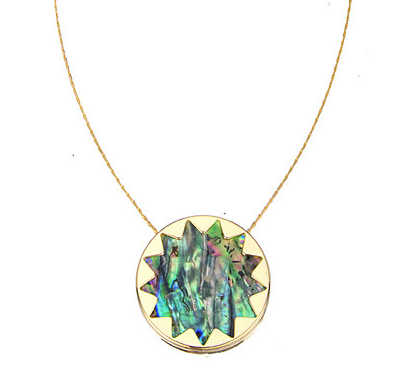 Abalone Sunburst Pendant Necklace