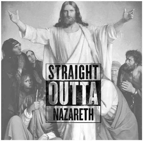 Straight Outta Nazareth Parody Christian Jesus T-Shirts, Hip Hop Clothing, Urban Clothing, Streetwear