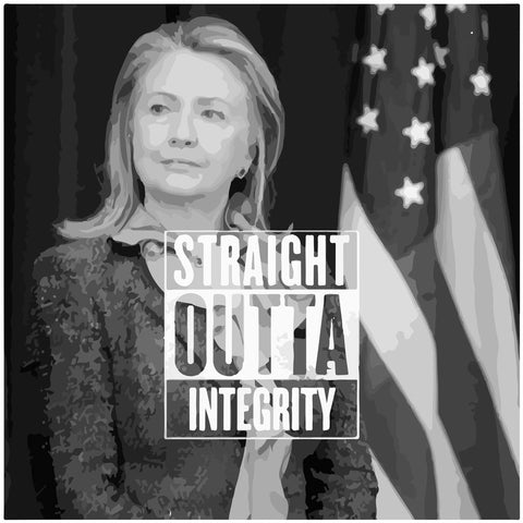 Straight Outta Integrity Hillary Clinton T-Shirts, Hip Hop Clothing, Urban Clothing, Streetwear