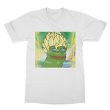 White Anime Super Saiyan PEPE MEME Dragon Ball Z Goku T-Shirt