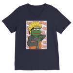 Navy Blue Anime PEPE MEME Naruto V-Neck T-Shirt