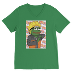 Kelly Green Anime PEPE MEME Naruto V-Neck T-Shirt