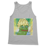 Light Grey Anime Super Saiyan PEPE MEME Dragon Ball Z Goku Tank Top