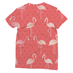 Pink Flamingo Print T-Shirt