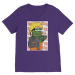 Purple Anime PEPE MEME Naruto V-Neck T-Shirt