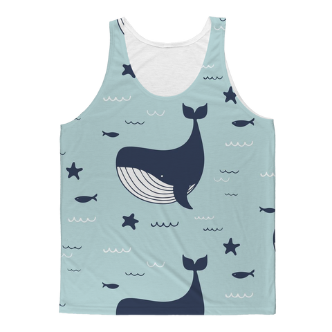 Swimming Whales Tank Top