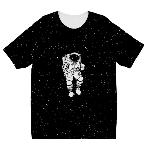 Black Space Astronaut T-Shirt