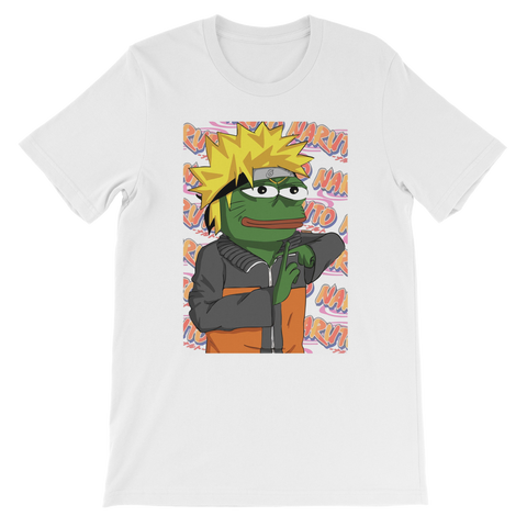 Light Blue Anime PEPE MEME Naruto T-Shirt