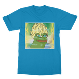 Sapphire Blue Anime Super Saiyan PEPE MEME Dragon Ball Z Goku T-Shirt