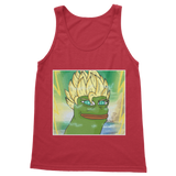Red Anime Super Saiyan PEPE MEME Dragon Ball Z Goku Tank Top