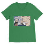 Kelly Green Tobirama Senju Naruto V-Neck T-Shirt