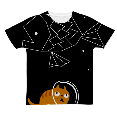 Space Astronaut Kitty Cat T-Shirt