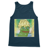 Navy Blue Anime Super Saiyan PEPE MEME Dragon Ball Z Goku Tank Top