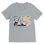 Light Grey Tobirama Senju Naruto V-Neck T-Shirt