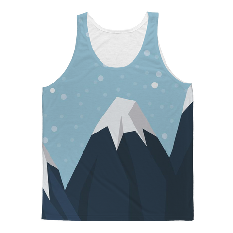 Snowing Mountains Nature Tank Top