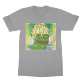Light Grey Anime Super Saiyan PEPE MEME Dragon Ball Z Goku T-Shirt