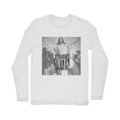 Royal Blue Straight Outta Nazareth Parody Christian Jesus Long Sleeve T-Shirt