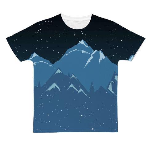 Starry Night Sky & Mountains Nature T-Shirt